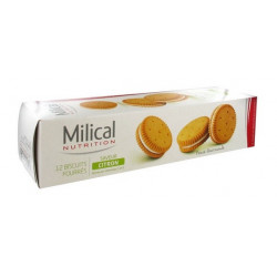 MILICAL 12 BISCUITS FOURRÉS CITRON