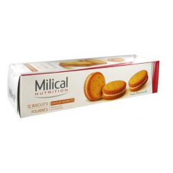 MILICAL 12 BISCUITS FOURRÉS NOISETTE