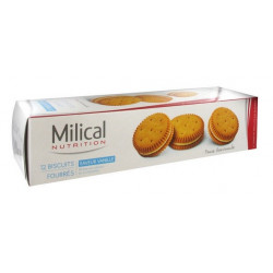 MILICAL 12 BISCUITS FOURRÉS VANILLE
