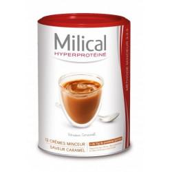 milical hyperproteiné 12 crèmes minceur caramel
