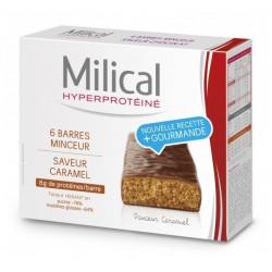 milical hyperproteiné 6 barres minceur caramel