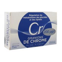 granions de chrome 200 μg 30 ampoules