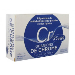 granions de chrome 25 mg 30 ampoules
