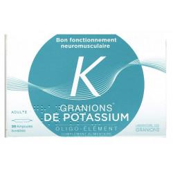 granions de potassium 30 ampoules