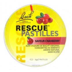 bach rescue pastilles saveur cranberry 50 g