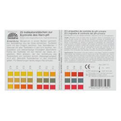 biosanalanguettes du contrôle du ph urinaire 25 tests