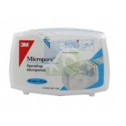 3m micropore sparadrap blanc 25 mm x 7,5 m