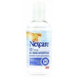 3m nexcare gel mains antiseptique 75 ml