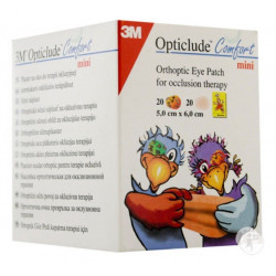 3m opticlude comfort mini 40 pansements orthoptiques 5 cm x 6 cm