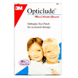 3m opticlude maxi adulte 20 pansements orthoptiques 5,7 cm x 8,2 cm