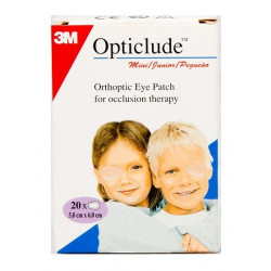 3m opticlude mini junior 20 pansements orthoptiques 5 cm x 6 cm