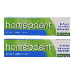 boiron homéodent soin blancheur chlorophylle 2 x 75 ml