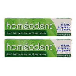 boiron homéodent soin complet dents et gencives chlorophylle 2 x 75 ml
