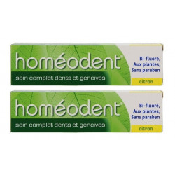 boiron homéodent soin complet dents et gencives citron 2 x 75 ml