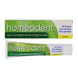 boiron homéodent soin complet dents et gencives citron 75 ml