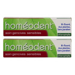boiron homéodent soin gencives sensibles chlorophylle 2 x 75 ml