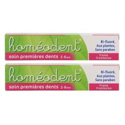 boiron homéodent soin premières dents 2-6 ans 2 x 50 ml