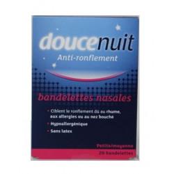 doucenuit bandelettes nasales anti-ronflement petite / moyenne