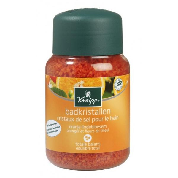 kneipp cristaux de sel pour le bain oranger fleurs de tilleul 500 g