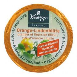 kneipp galet de bain effervescent oranger fleurs de tilleul