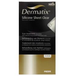 dermatix silicone sheet clear 4 cm x 13 cm