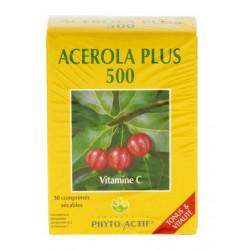 phyto-actif acerola plus 500 30 comprimés