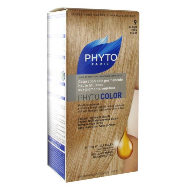 phyto color coloration soin permanente 9 blond trs clair - Coloration Phyto