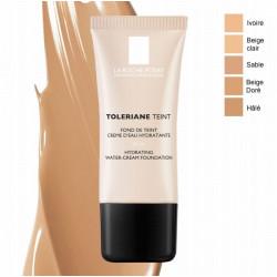 la roche-posay toleriane teint fond de teint crème d'eau hydratante beige clair 30 ml