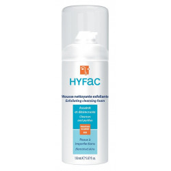 hyfac mousse nettoyante exfoliante 150 ml