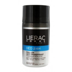 lierac homme déo 24h roll-on anti-transpirant 50 ml