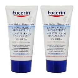 eucerin crème mains réparatrice 5% urée 2 x 75 ml