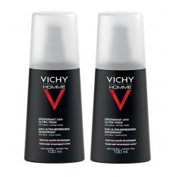 vichy homme déodorant 24h ultra-frais 2 x 100 ml