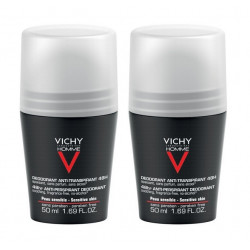 vichy homme déodorant anti-transpirant 48h 2 x 50 ml