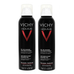 vichy homme gel de rasage anti-irritations 2 x 150 ml