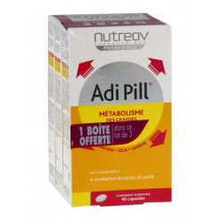 nutreov adi pill métabolisme des graisses minceur 3d 3 x 40 capsules