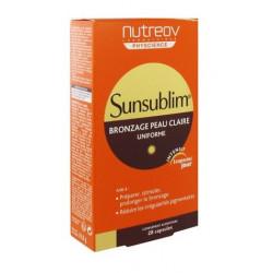 nutreov sunsublim bronzage peau claire 28 capsules
