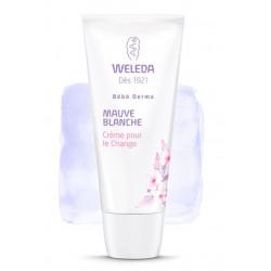 weleda bébé derma crème pour le change à la mauve blanche 50 ml