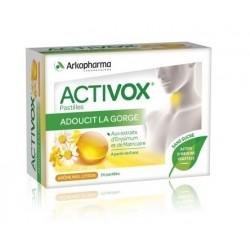 arkopharma activox pastilles miel citron sans sucre