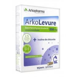 arkopharma arkolevure 250 mg 10 gélules