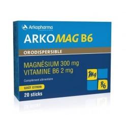 arkopharma arkomag b6 orodispersible 20 sticks