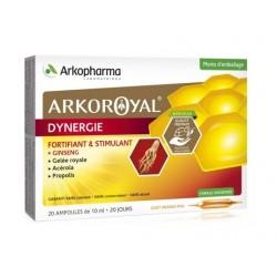 arkopharma arkoroyal dynergie 20 ampoules