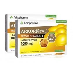 arkopharma arkoroyal gelée royale 1000 mg 2 x 20 ampoules