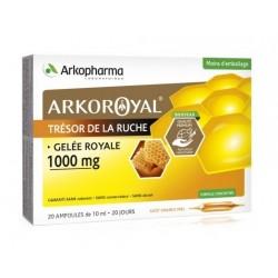 arkopharma arkoroyal gelée royale 1000 mg 20 ampoules