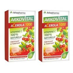 arkopharma arkovital acérola 1000 2 x 30 comprimés