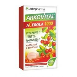 arkopharma arkovital acerola 1000 30 comprimés