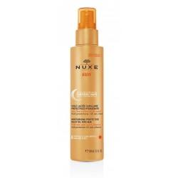 nuxe sun huile lactée capillaire protectrice hydratante 100 ml