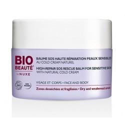 bio beauté by nuxe baume sos haute réparation peaux sensibles au cold cream naturel 50 ml