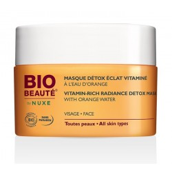 bio beauté by nuxe masque détox vitaminé à l'eau d'orange 50 ml