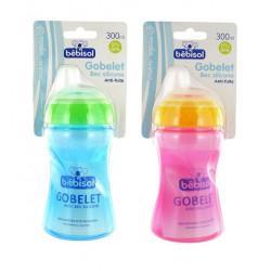 bébisol gobelet bec silicone anti-fuite 300 ml