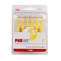 Crinex PHB 90° F 6 Brossettes Interdentaires Fine Blanche
